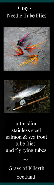 Slim stainless steel salmon and sea trout flies